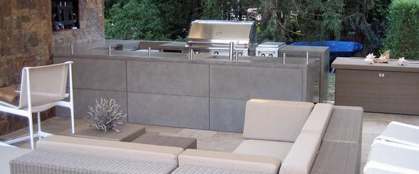 buitenkeuken van beton